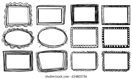 Different designs for frames illustration