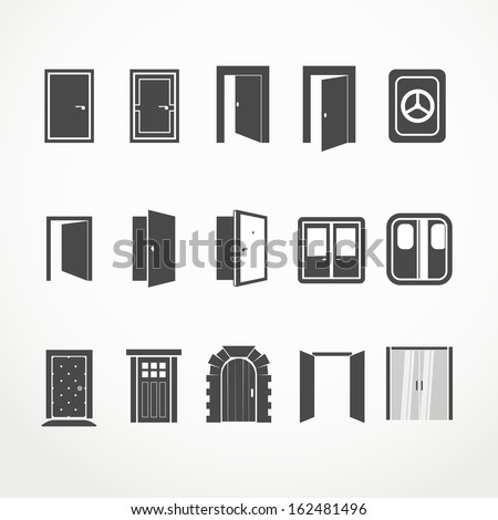 Different doors web icons