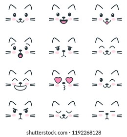 Different emotions of cats