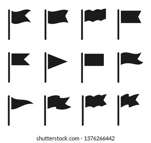 Different flag icons set. Vector illustration