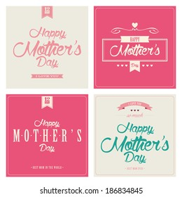 Different four special happy mother's day background