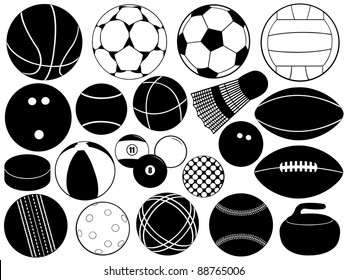 Different game balls