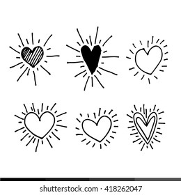 different graphic hearts illustration design