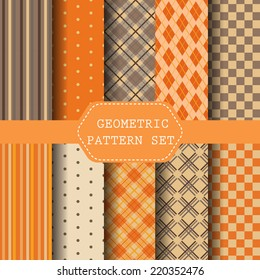 different Halloween seamless pattern, Orange Perfect as Halloween ,Thanksgiving Background. Swatches vector Endless texture can be used for wallpaper, pattern fills, web page,background,surface