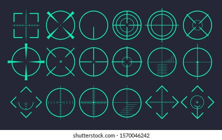 Different icon set of targets and destination. Target and aim, targeting and aiming. Vector illustration fordesign