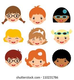 Different kids faces