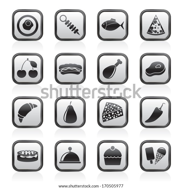 Different kind of food icons - vector icon set