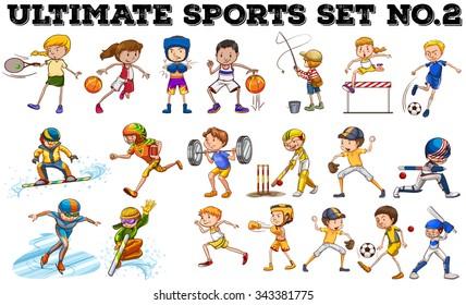 Different kind of sports  illustration