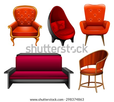 Different Kinds Of Chairs In Red