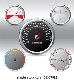 Different kinds of metallic gauges
