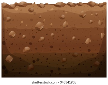 Different layer of the underground illustration
