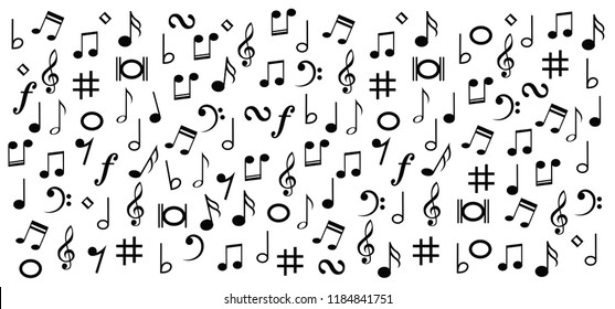Music Notes Musical Notes Waves Wave Stock Vector Royalty Free
