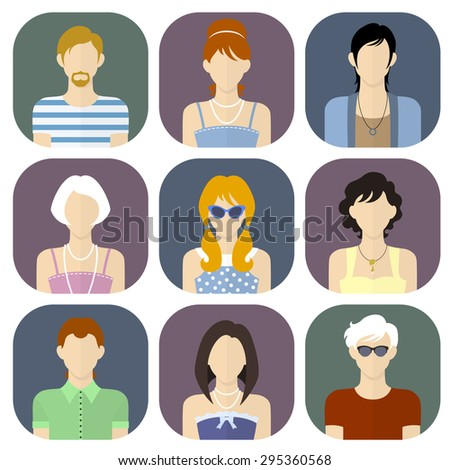 108bc37ee5 Different People Summer Clothes Flat Style Stock Vector (Royalty ...