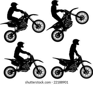 Different Poses Dirt Rider