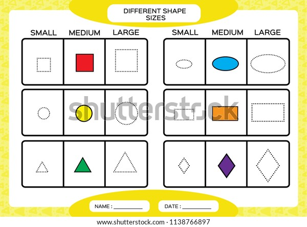 Different Shape Sizes Small Medium Large Stock Vector Royalty Free 1138766897