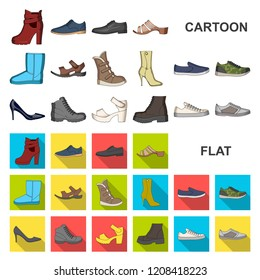 Different shoes cartoon icons in set collection for design. Men and women  shoes vector symbol 7d7fc280b