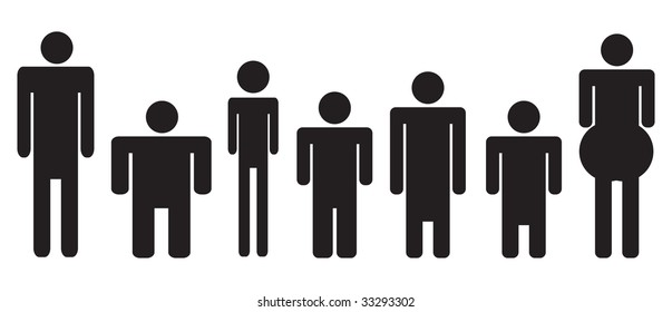 Different Size People Stock Images Royalty Free Images