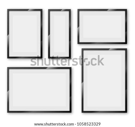 Different Sizes Proportion Blank Frame Thick Stock Vector (Royalty ...