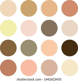 Different skin tones and hair colors. Creative vector illustration of human skin tone color palette set isolated on transparent background. Art design.  Cohesion concept icons, social, national eps10