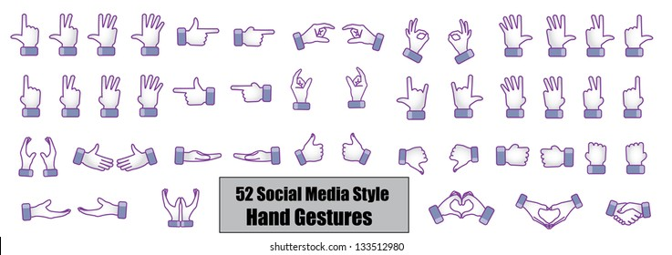 Different Social media style hand gestures, hand signs, hand symbols - Count, Counting, Love, like, Best, showing direction, Share, Hand shake, Catching, Give, Protect, Fight, Protest, Hold, Deal
