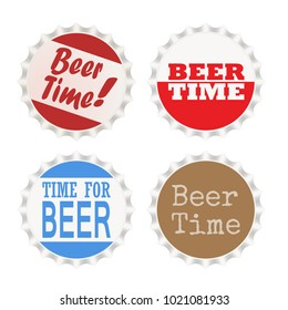 Different style beer time bottle crown caps