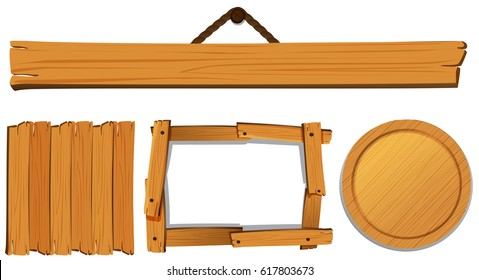 Different templates for wooden board