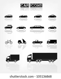 Different transports icon