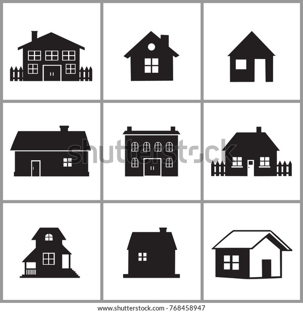 Different Type Houses Vector Design Stock Vector (Royalty Free
