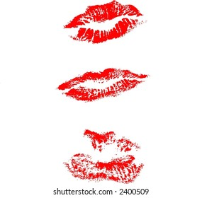 Different type of lips mark