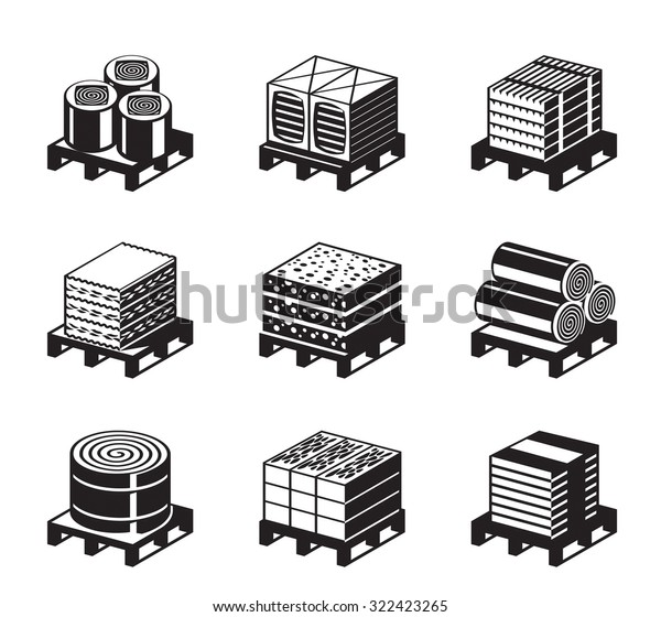 Different Types Building Insulation Vector Illustration