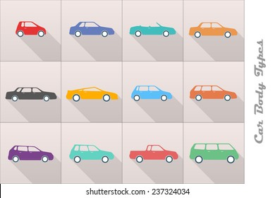 different types of car body icons