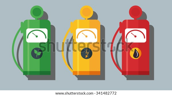 Types Of Oil For Cars >> Different Types Fuel Cars Bio Oil Stock Vector Royalty Free