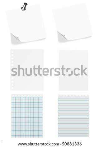different types paper sheet isolated on stock vector royalty free