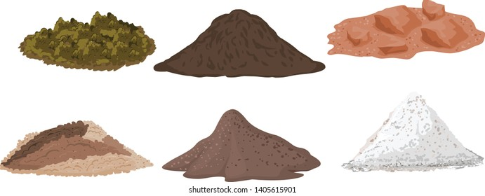 different types of soil and land for design vector illustration - Vector