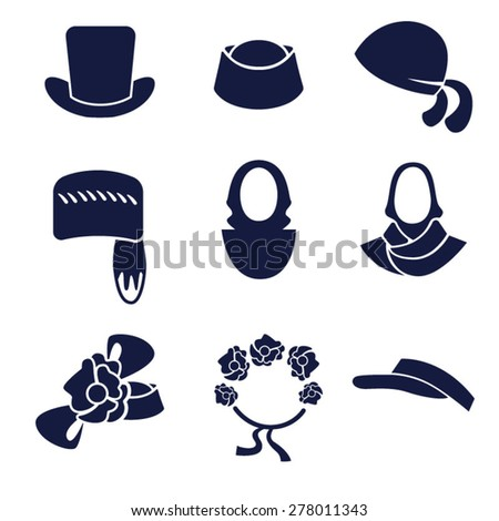 Different types of women s hats and headdresses   Women s headdresses in  the form ... 2c24cbeebba