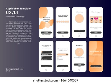 Different UX/UI Design template good to use for mobile application and flate web icon, responsive website including, Interface design EPS10 File format