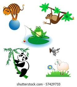 Different wild animals