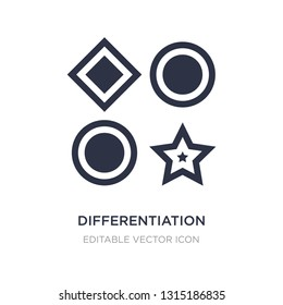 differentiation icon on white background. Simple element illustration from Seo and web concept. differentiation icon symbol design.