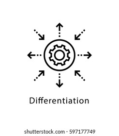 Differentiation Vector Line Icon
