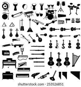 different-instruments-icon-set