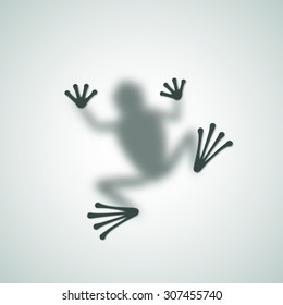 Diffuse Frog Silhouette Shadow Abstract Vector Image. Isolated.