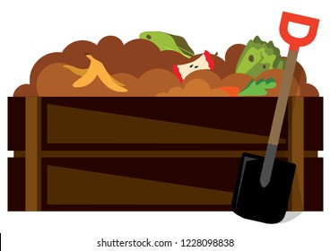 Dig to Compost pile icon on a white background vector illustration