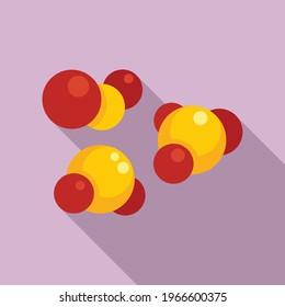 Digestion molecule icon. Flat illustration of Digestion molecule vector icon for web design