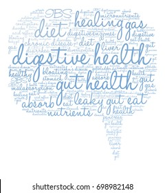 Digestive Health word cloud on a white background.