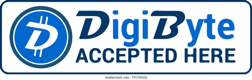 Digibyte cryptocurrency icon vector.