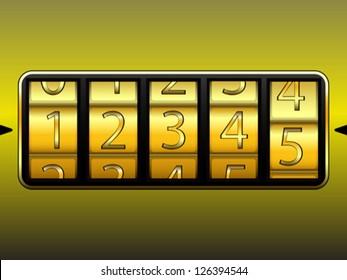 digit locker, abstract vector art illustration