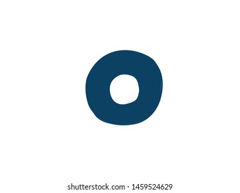 Digit number 0. Vector. Logo for the company. Icon for the site. Separate digit from the alphabet. Barbed pleasant shape.