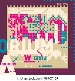 Digital abstract banner. Vector illustration.