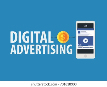 Digital advertising ads social media online marketing. vector illustration concept.