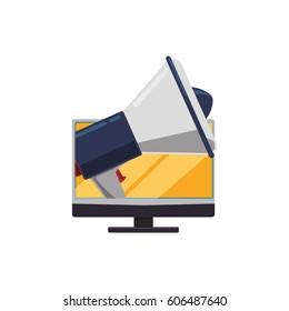 Digital advertising business icon vector illustration graphic design
